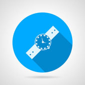 Flat vector icon for watch — Stock Vector