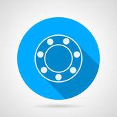 Ball bearing flat vector icon — Stock Vector