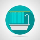 Flat vector icon for bathroom — Stock Vector