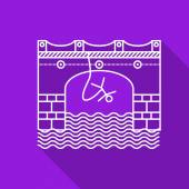 Flat line vector icon for rope jumping — Vecteur
