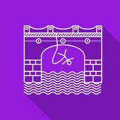 Flat line vector icon for rope jumping — Stock vektor