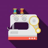 Flat vector icon for sewing machine — Stock Vector