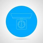 Kitchen scales vector icon — Stock Vector