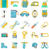 Colored icons vector collection for rock climbing — Stock Vector