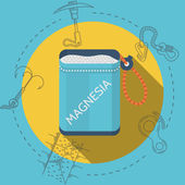 Flat design vector illustration for rock climbing. Magnesia — Stock Vector