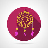 Dream catcher colored vector icon — ストックベクタ