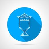 Round vector icon for souvenir pennon — Stock Vector