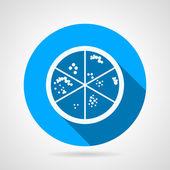 Petri dish round vector icon — Stock Vector