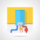Colorful vector icon for water boiler — Stock Vector
