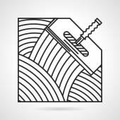 Black line vector icon for spatula — Stockvector