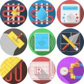Colored icons vector collection for underfloor heating — Stockvektor