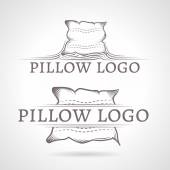 Abstract vector illustration of pillow icon with text — Stock Vector