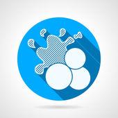 Paintball balls round vector icon — Vector de stock