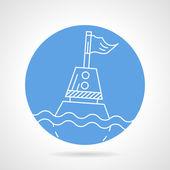 Sea buoy round vector icon — Stock Vector