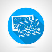 Vacations photo round vector icon — Stock Vector