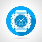 Divers watch round vector icon — Stock Vector