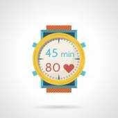 Flat color style vector icon for diving watch — Stock Vector