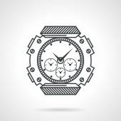 Sport watch black line vector icon — 图库矢量图片