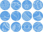 Maritime round icons vector collection — Stock Vector