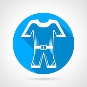 Płasko-okrągłe wektor ikona do skafandra — Wektor stockowy
