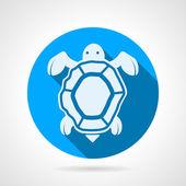 Морская черепаха плоские круглые Векторный icon — Cтоковый вектор