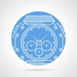 Постер, плакат: Sports wrist watch vector icon