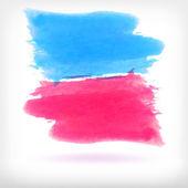 Vector abstract watercolor brush design elements. — Stock Vector