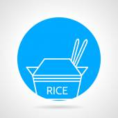 Rice pack round vector icon — Stock Vector