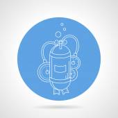 Aqualung cylinder round vector icon — Stock Vector
