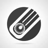Artificial insemination black round vector icon — Stock Vector