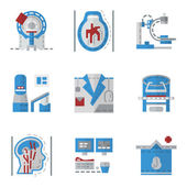 Simple flat color vector icons for MRI — Stock Vector