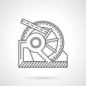 Winch mechanism line vector icon — Stock Vector