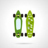 Flat color vector icon for modern skateboard — Stock Vector