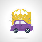 Car delivery flat vector icon — Stock Vector