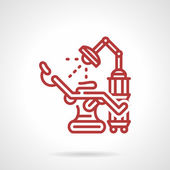 Red line vector icon for tattoo parlor — Stockvektor