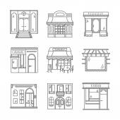 Linear vector icons for storefronts — Stock Vector