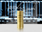 Gold the coins  — Stockfoto