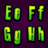Halloween modern font EFGH — Stock Photo