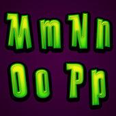 Halloween modern font MNOP — Zdjęcie stockowe