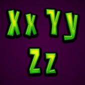 Halloween modern font XYZ — Zdjęcie stockowe