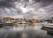 St Florent harbour in northern Corsica — Stock Photo