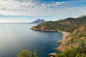 Bussaglia beach on west coast of Corsica — Stock Photo