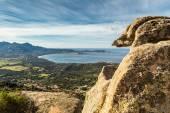 Calvi Bay in Balagne region of Corsica — Stock Photo