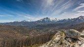 Monte Pardu and San Parteo in Balagne region of Corsica — Stock Photo