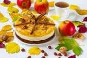 Pie jelly with apples — Stock Photo