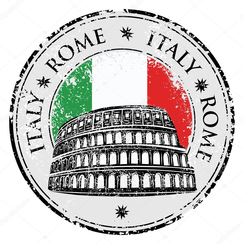grunge rubber stamp with colosseum and the word rome italy clipart vector italy clip art free