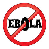 Stop Ebola virus sign vector illustration — Vettoriale Stock