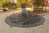 Sun clock marble sundial in Kiev Kyiv Ukraine photo — Stock Photo