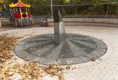 Sun clock marble sundial in Kiev Kyiv Ukraine photo — Zdjęcie stockowe