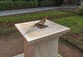 Sundial in National Garden of Athens photo. Greece.  — Stok fotoğraf